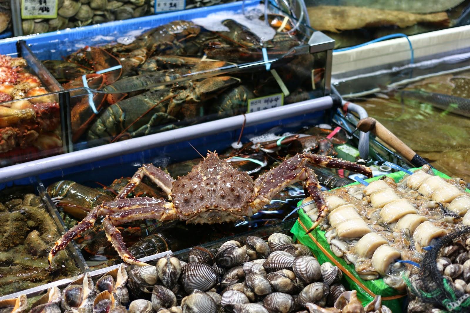 Noryangjin fisheries wholesale market seafood market to go for King fish market
